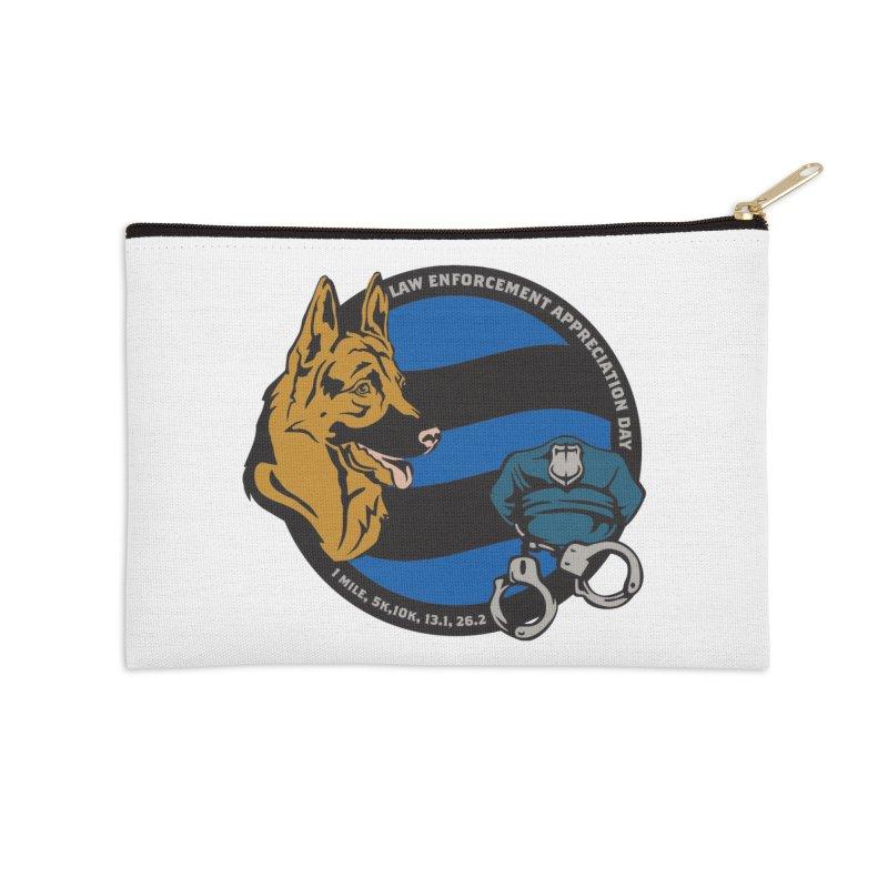 Law Enforcement Appreciation Accessories Zip Pouch by Moon Joggers's Artist Shop
