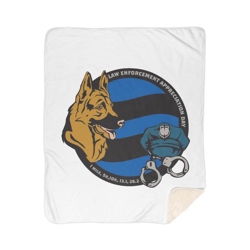 Law Enforcement Appreciation Home Sherpa Blanket Blanket by Moon Joggers's Artist Shop