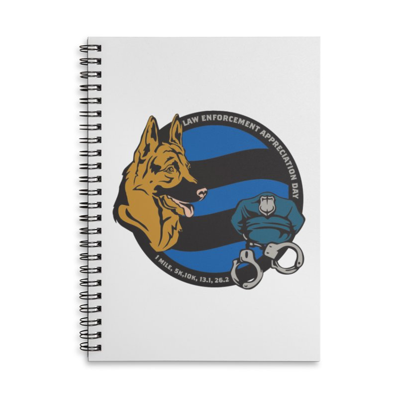 Law Enforcement Appreciation Accessories Lined Spiral Notebook by Moon Joggers's Artist Shop