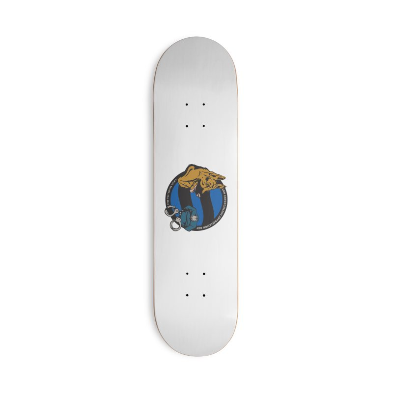 Law Enforcement Appreciation Accessories Deck Only Skateboard by Moon Joggers's Artist Shop