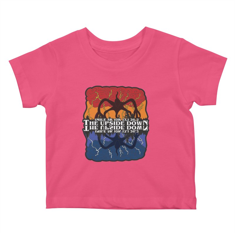 The Upside Down Kids Baby T-Shirt by Moon Joggers's Artist Shop