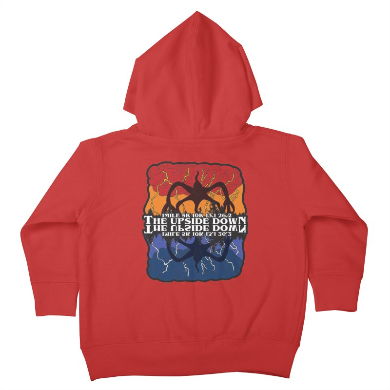 The Upside Down Kids Toddler Zip-Up Hoody by Moon Joggers's Artist Shop