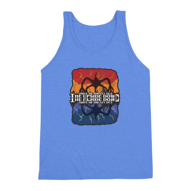 The Upside Down Men's Triblend Tank by Moon Joggers's Artist Shop