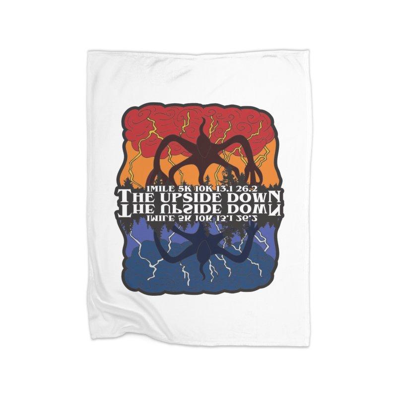 The Upside Down Home Fleece Blanket Blanket by Moon Joggers's Artist Shop