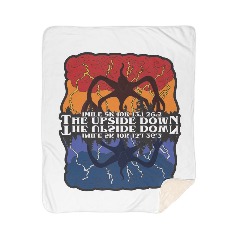 The Upside Down Home Sherpa Blanket Blanket by Moon Joggers's Artist Shop