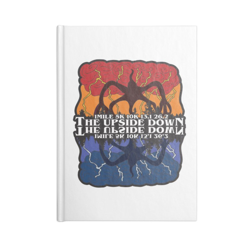 The Upside Down Accessories Lined Journal Notebook by Moon Joggers's Artist Shop