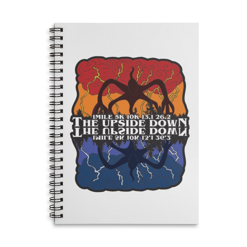 The Upside Down Accessories Lined Spiral Notebook by Moon Joggers's Artist Shop