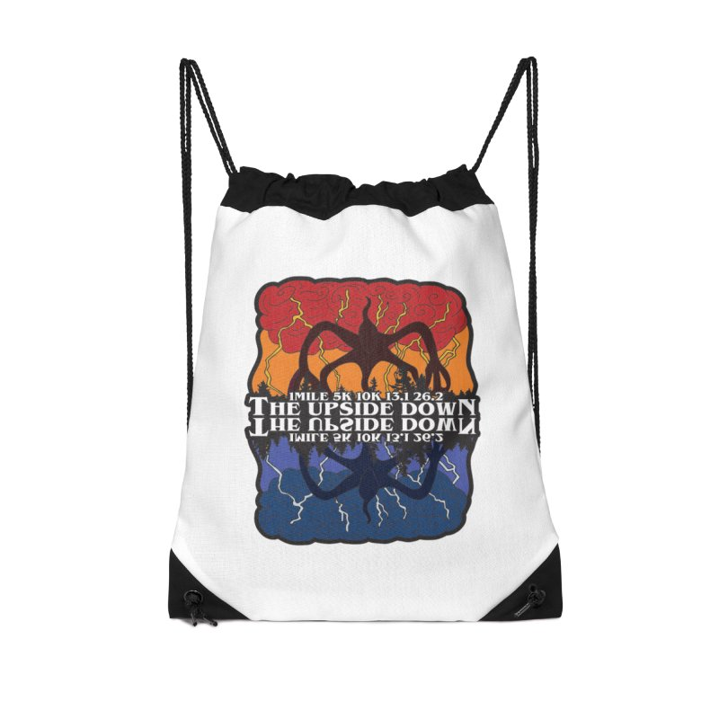 The Upside Down Accessories Drawstring Bag Bag by Moon Joggers's Artist Shop