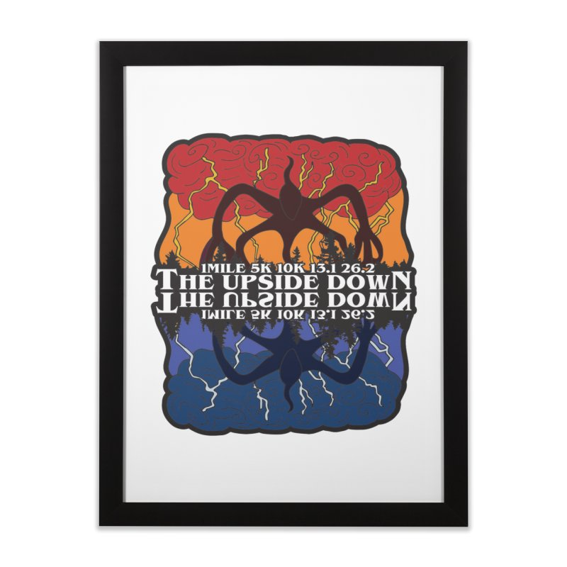 The Upside Down Home Framed Fine Art Print by Moon Joggers's Artist Shop