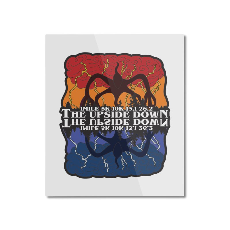 The Upside Down Home Mounted Aluminum Print by Moon Joggers's Artist Shop