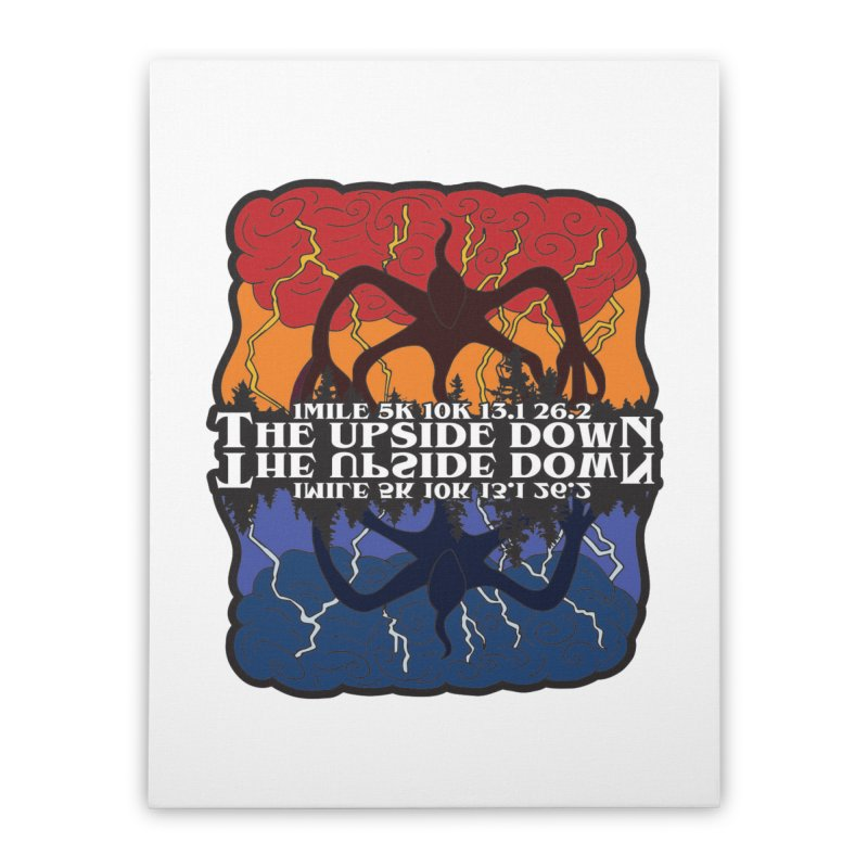 The Upside Down Home Stretched Canvas by Moon Joggers's Artist Shop
