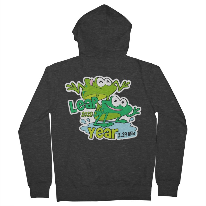 Leap Year 2020 Men's French Terry Zip-Up Hoody by Moon Joggers's Artist Shop