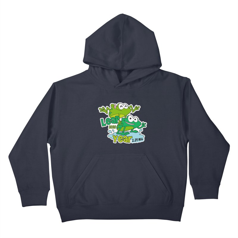 Leap Year 2020 Kids Pullover Hoody by Moon Joggers's Artist Shop
