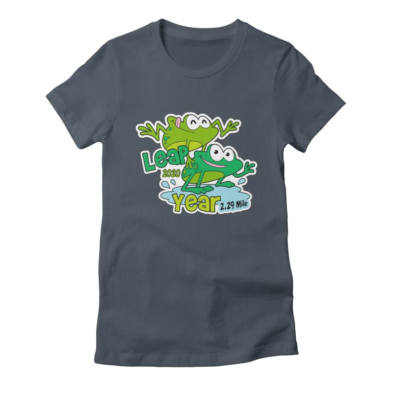 Leap Year 2020 Women's Fitted T-Shirt by Moon Joggers's Artist Shop