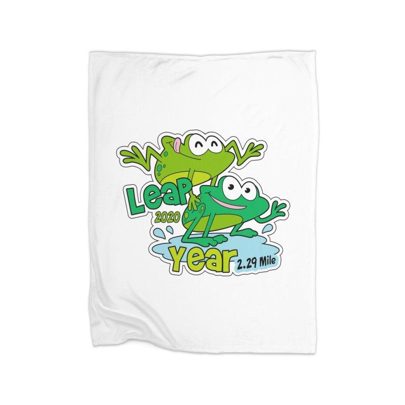 Leap Year 2020 Home Fleece Blanket Blanket by Moon Joggers's Artist Shop