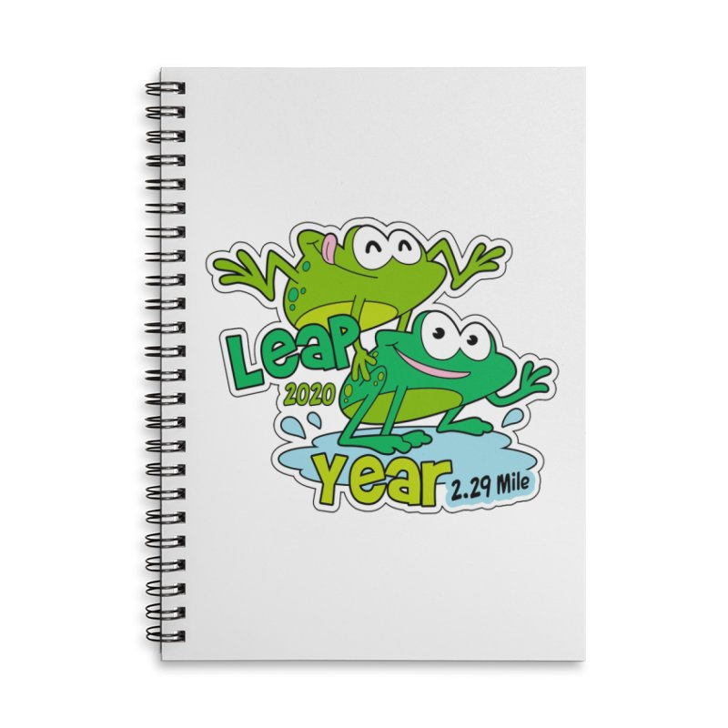 Leap Year 2020 Accessories Lined Spiral Notebook by Moon Joggers's Artist Shop