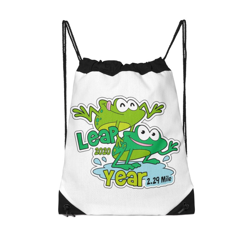 Leap Year 2020 Accessories Drawstring Bag Bag by Moon Joggers's Artist Shop