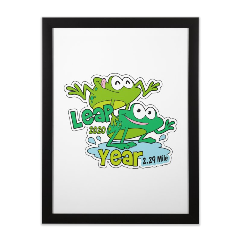 Leap Year 2020 Home Framed Fine Art Print by Moon Joggers's Artist Shop