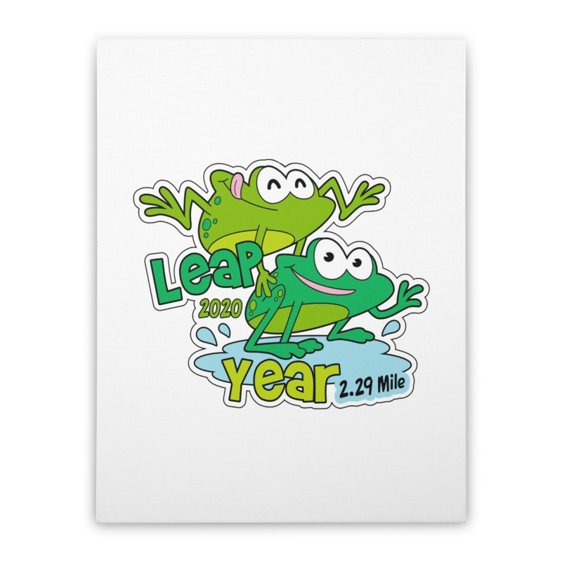 Leap Year 2020 Home Stretched Canvas by Moon Joggers's Artist Shop