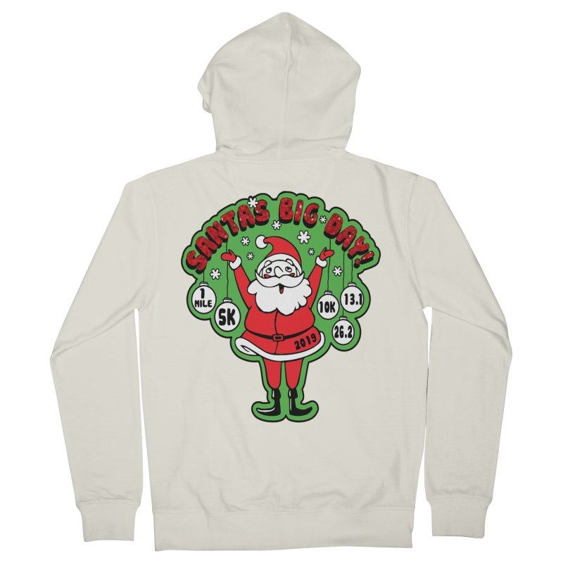 Santa's Big Day! Women's French Terry Zip-Up Hoody by Moon Joggers's Artist Shop