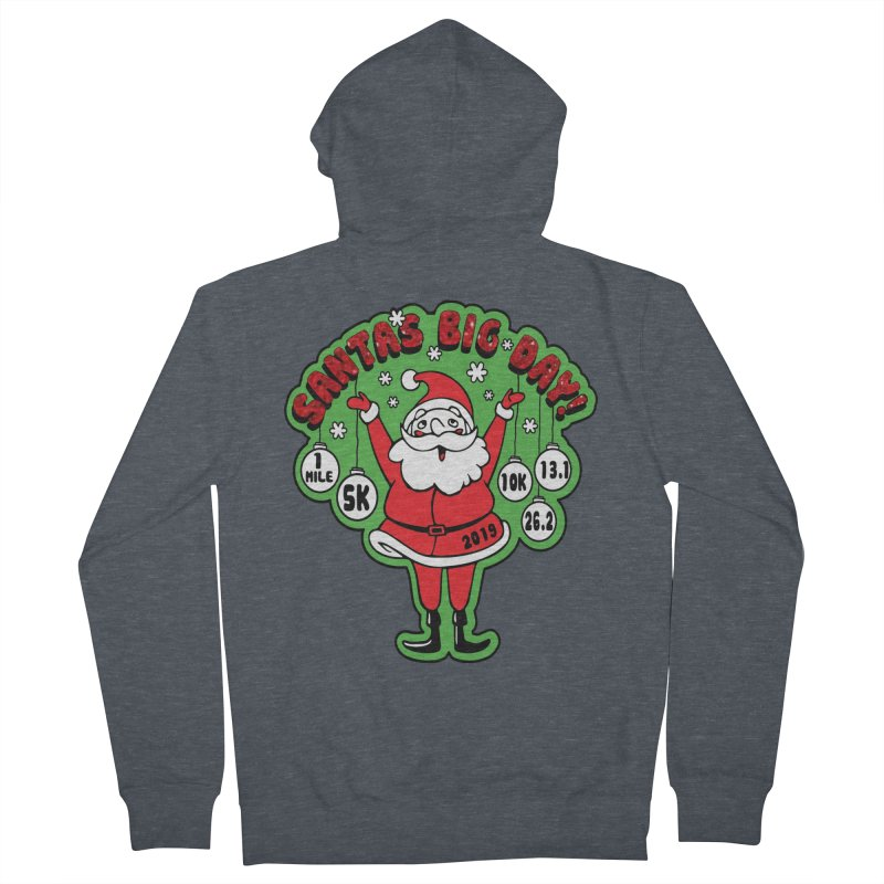 Santa's Big Day! Men's French Terry Zip-Up Hoody by Moon Joggers's Artist Shop