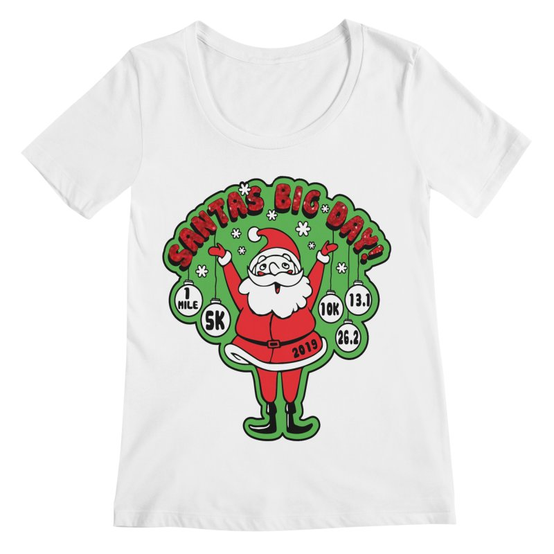 Santa's Big Day! Women's Regular Scoop Neck by Moon Joggers's Artist Shop