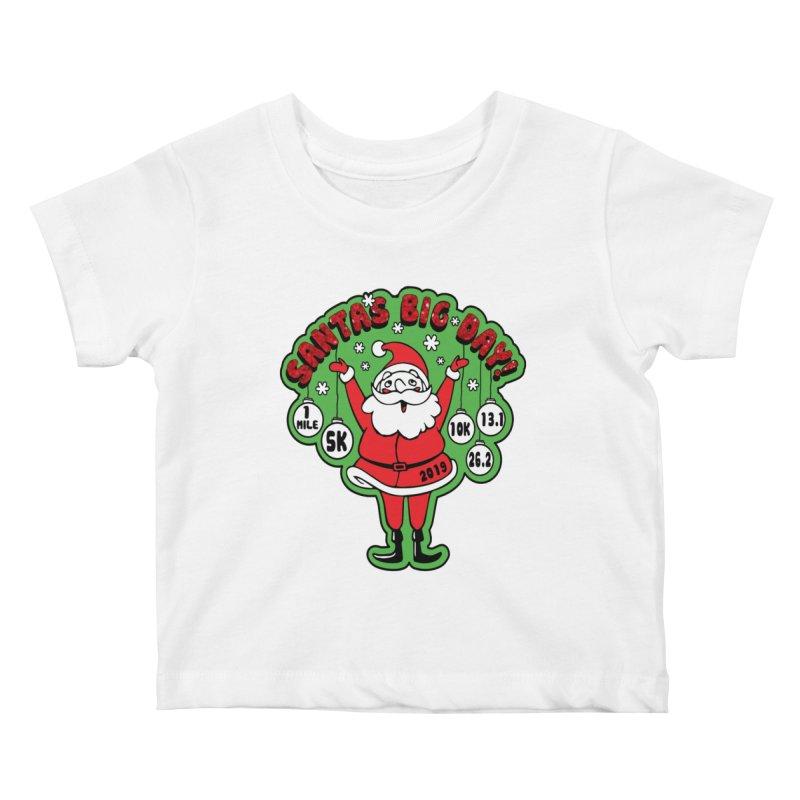 Santa's Big Day! Kids Baby T-Shirt by Moon Joggers's Artist Shop
