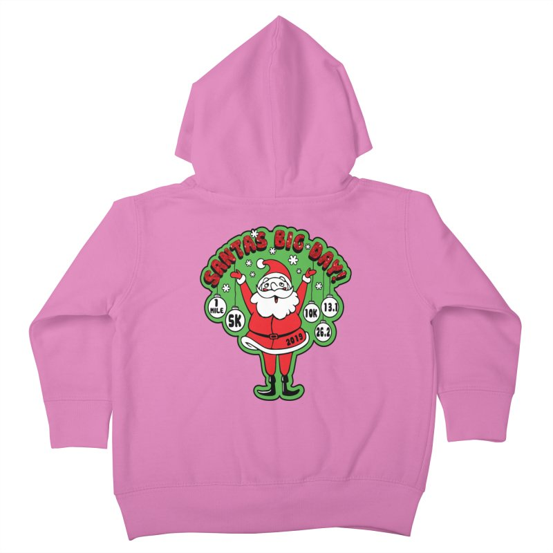 Santa's Big Day! Kids Toddler Zip-Up Hoody by Moon Joggers's Artist Shop
