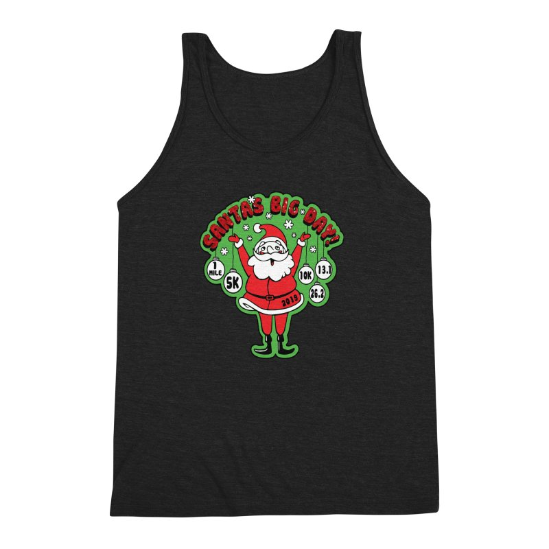 Santa's Big Day! Men's Triblend Tank by Moon Joggers's Artist Shop