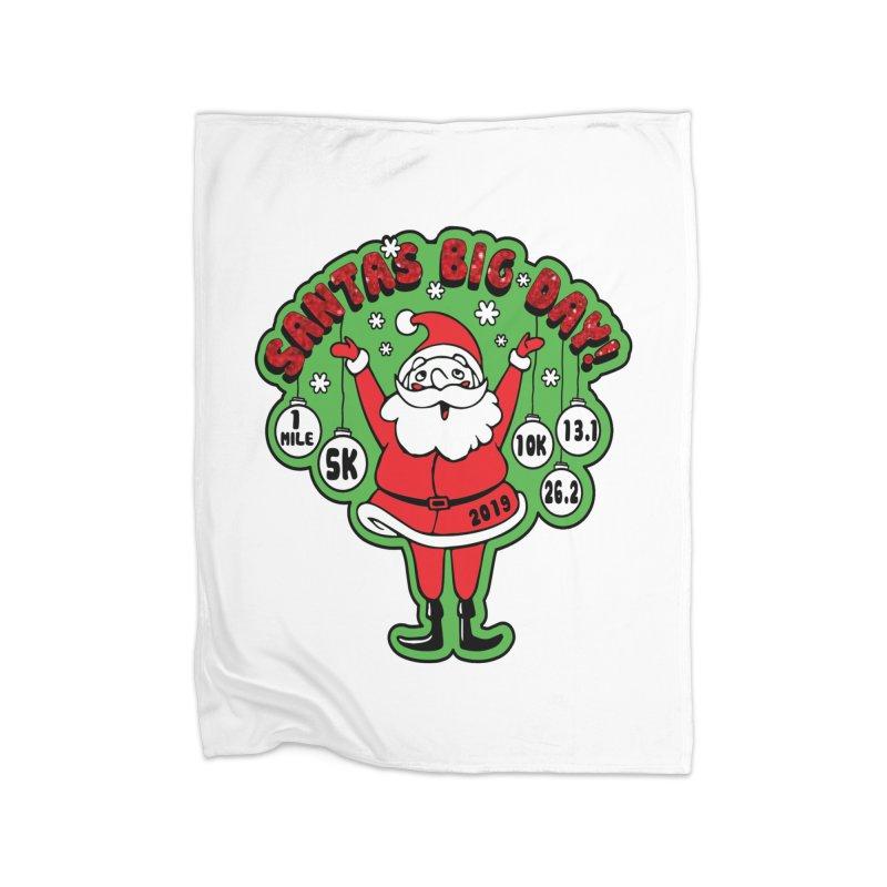 Santa's Big Day! Home Fleece Blanket Blanket by Moon Joggers's Artist Shop