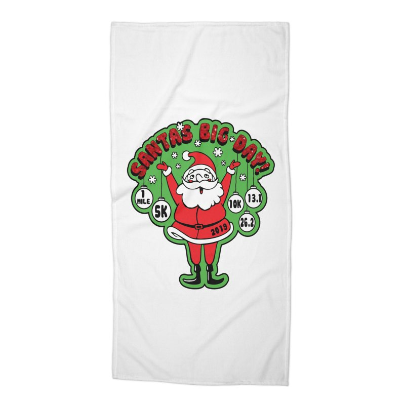 Santa's Big Day! Accessories Beach Towel by Moon Joggers's Artist Shop