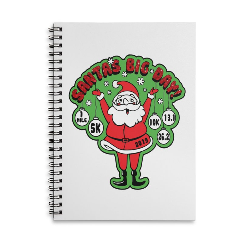 Santa's Big Day! Accessories Lined Spiral Notebook by Moon Joggers's Artist Shop