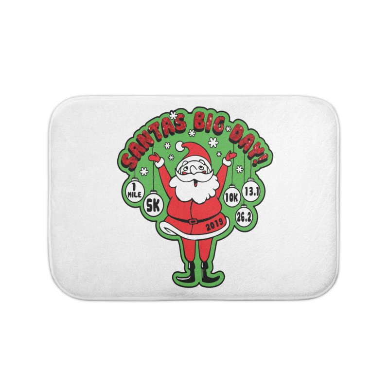Santa's Big Day! Home Bath Mat by Moon Joggers's Artist Shop