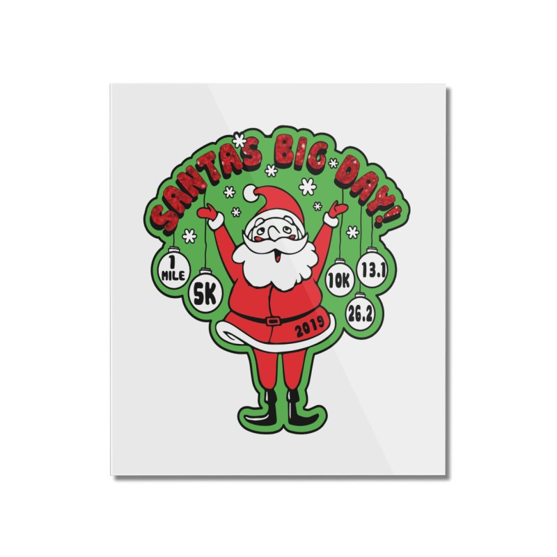 Santa's Big Day! Home Mounted Acrylic Print by Moon Joggers's Artist Shop