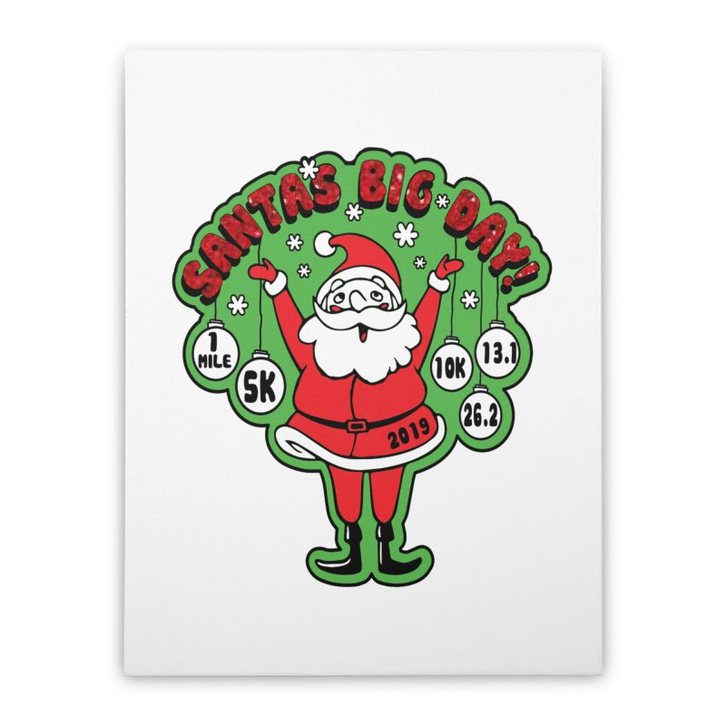 Santa's Big Day! Home Stretched Canvas by Moon Joggers's Artist Shop
