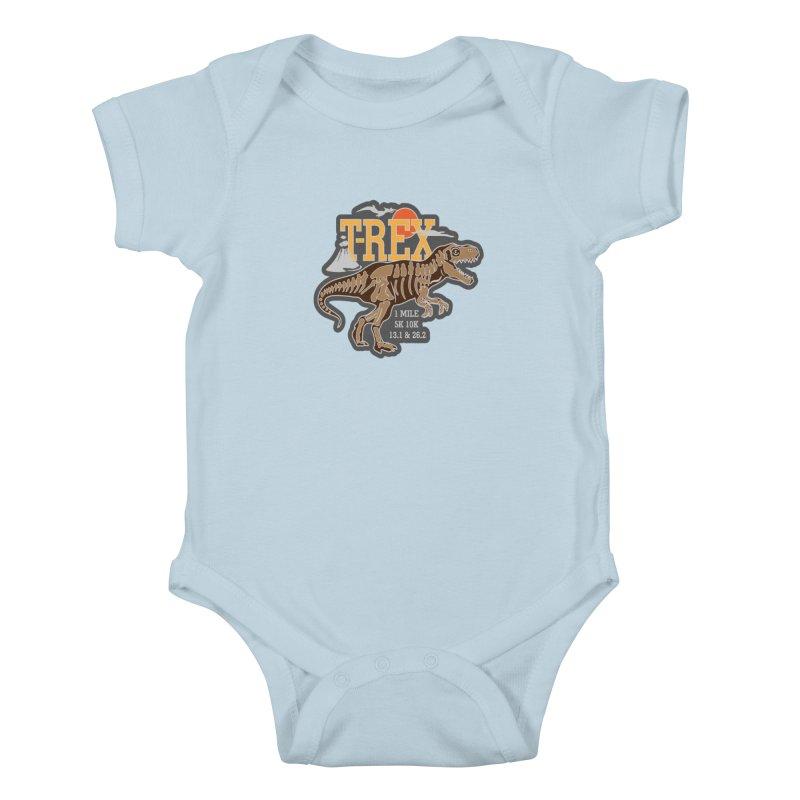 Dinosaurs! T-REX! Kids Baby Bodysuit by Moon Joggers's Artist Shop