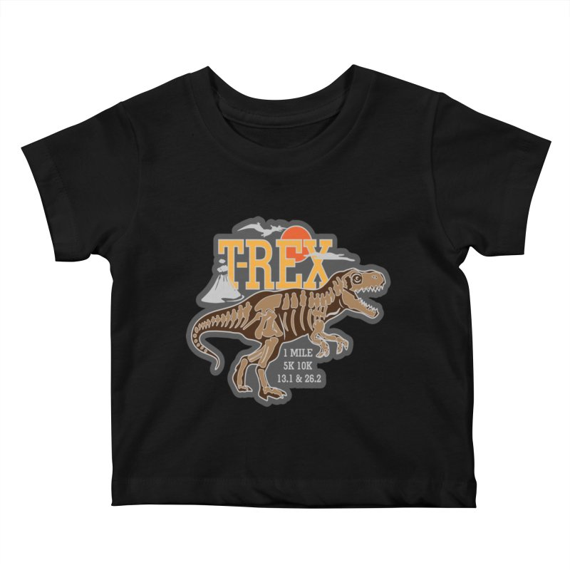 Dinosaurs! T-REX! Kids Baby T-Shirt by Moon Joggers's Artist Shop