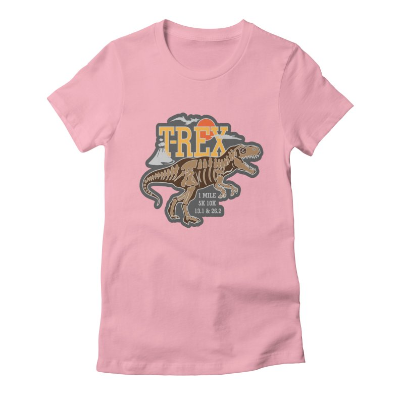 Dinosaurs! T-REX! Women's Fitted T-Shirt by Moon Joggers's Artist Shop