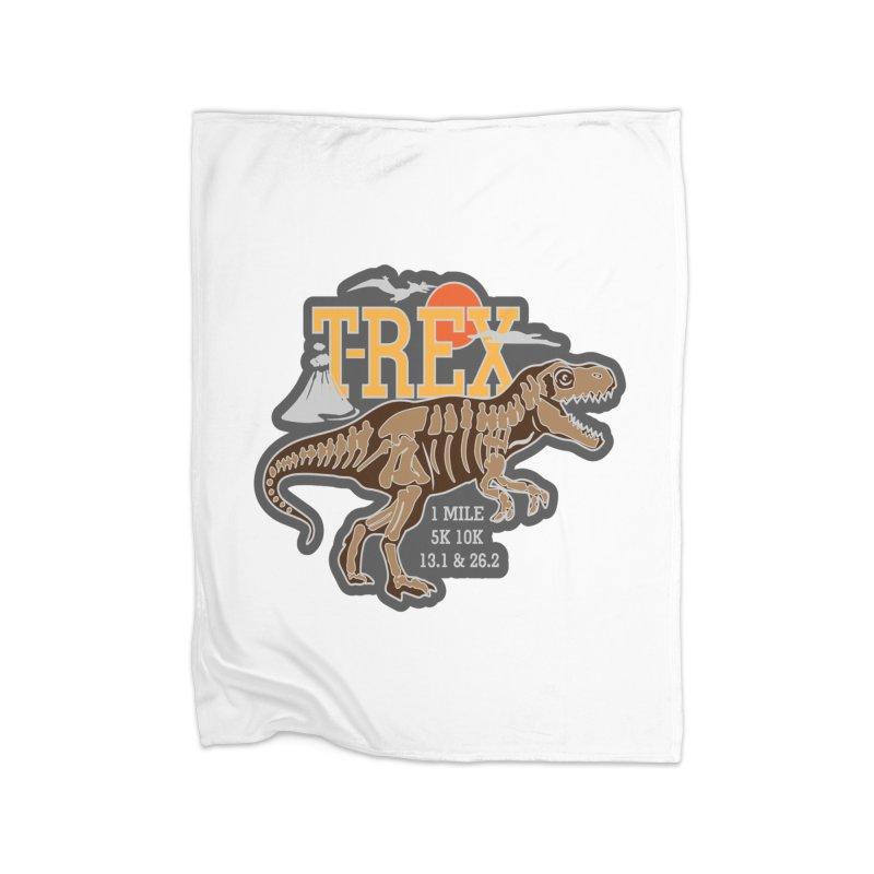 Dinosaurs! T-REX! Home Fleece Blanket Blanket by Moon Joggers's Artist Shop