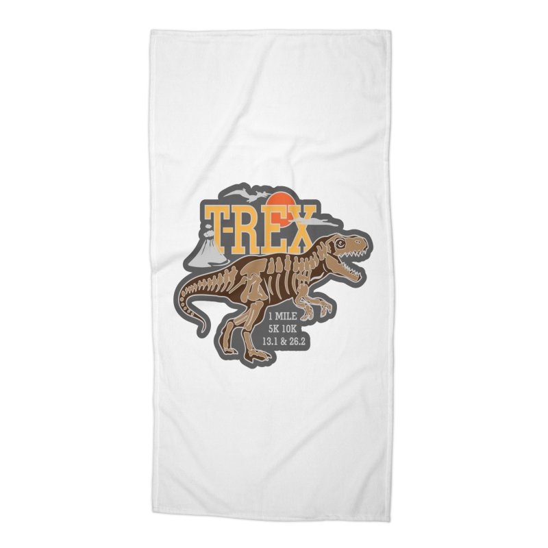Dinosaurs! T-REX! Accessories Beach Towel by Moon Joggers's Artist Shop