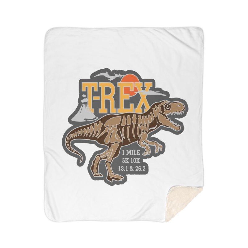 Dinosaurs! T-REX! Home Sherpa Blanket Blanket by Moon Joggers's Artist Shop
