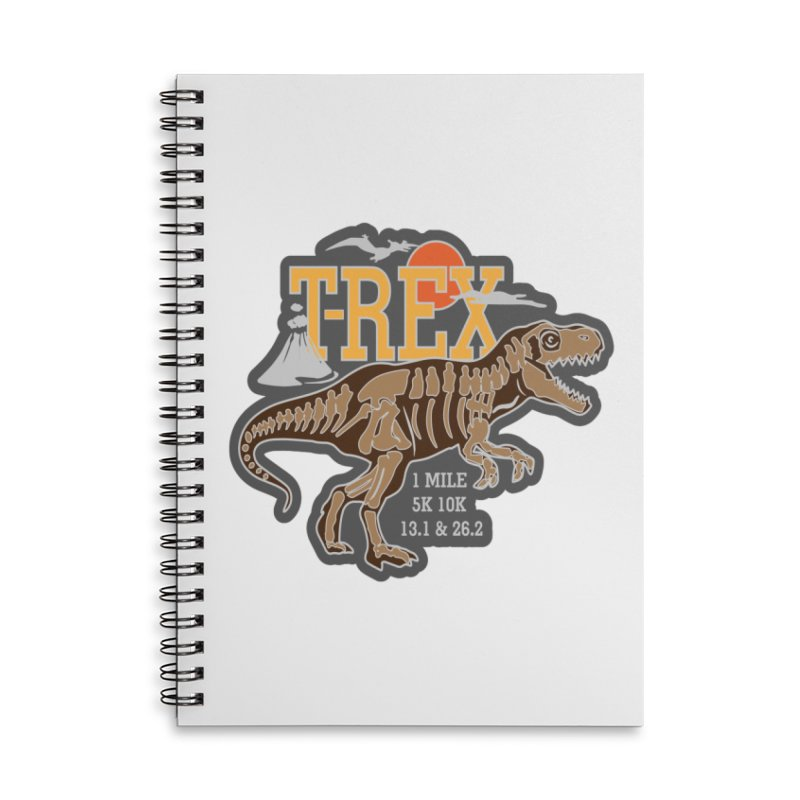Dinosaurs! T-REX! Accessories Lined Spiral Notebook by Moon Joggers's Artist Shop