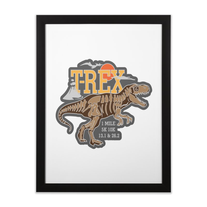 Dinosaurs! T-REX! Home Framed Fine Art Print by Moon Joggers's Artist Shop
