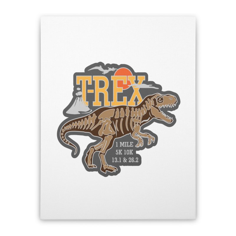 Dinosaurs! T-REX! Home Stretched Canvas by Moon Joggers's Artist Shop
