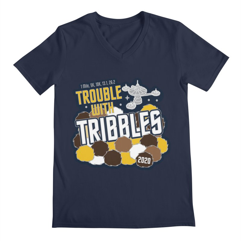 Trouble with Tribbles Men's Regular V-Neck by Moon Joggers's Artist Shop