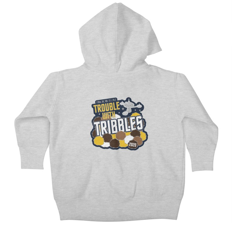Trouble with Tribbles Kids Baby Zip-Up Hoody by Moon Joggers's Artist Shop