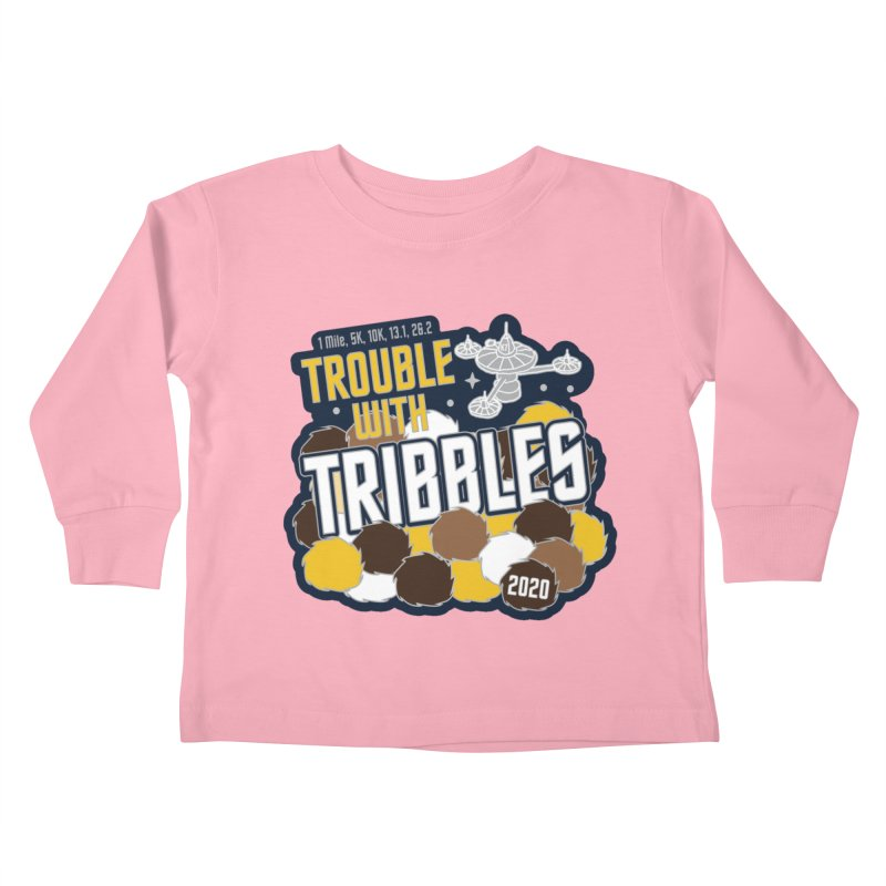 Trouble with Tribbles Kids Toddler Longsleeve T-Shirt by Moon Joggers's Artist Shop