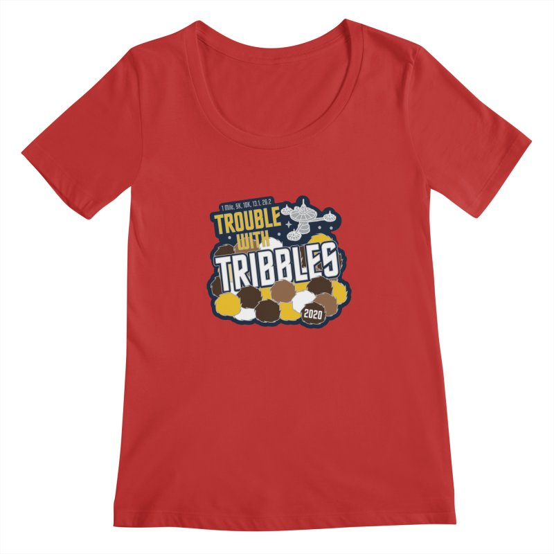 Trouble with Tribbles Women's Regular Scoop Neck by Moon Joggers's Artist Shop