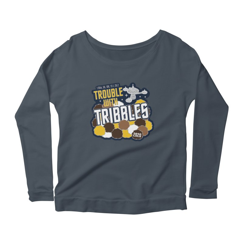 Trouble with Tribbles Women's Scoop Neck Longsleeve T-Shirt by Moon Joggers's Artist Shop