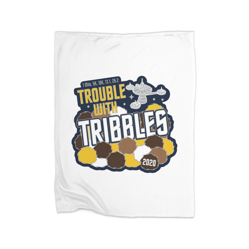 Trouble with Tribbles Home Fleece Blanket Blanket by Moon Joggers's Artist Shop